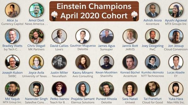 Einstein Champions April 2020 Cohort